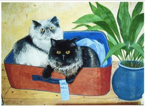 Cats in a basket