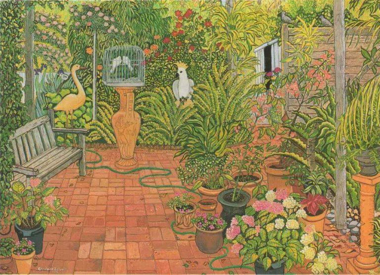 birds in a garden image