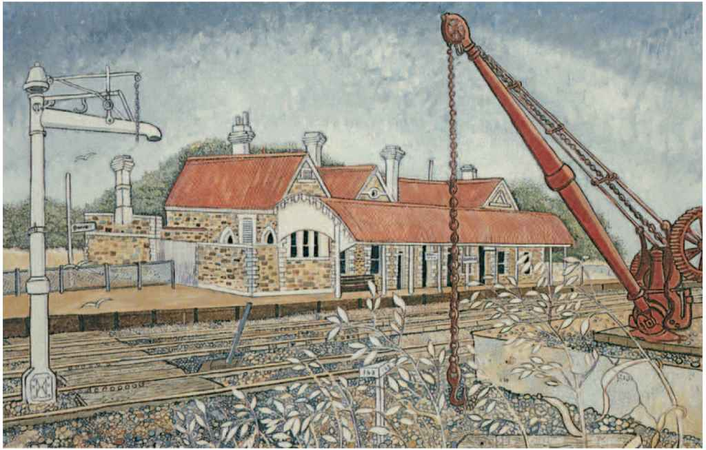 Burra Railway station image