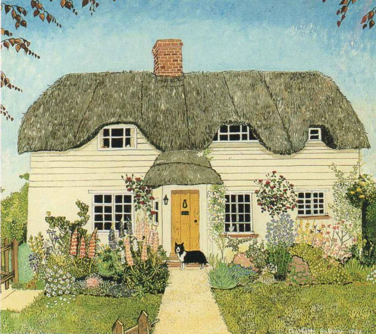 cottage in letcombe basset oxfordshire image