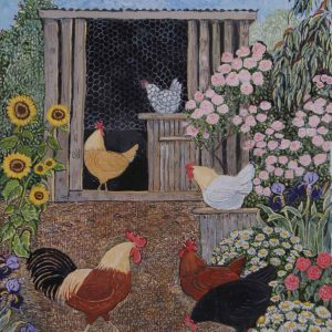 Hens and Daisies image